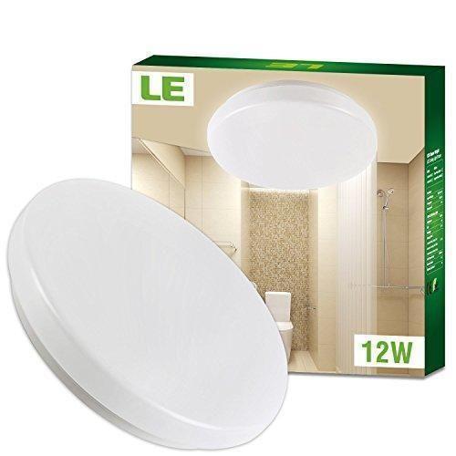 Oferta: -€. Comprar Ofertas de LE Plafón LED IP44 para Baños y Cocinas - Resistente al Agua, Blanco Cálida 3000K, Redondo Ø28cm, 950lm, 12W = incandescente  barato. ¡Mira las ofertas!