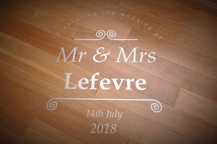 Wedding Dance Floor Sticker / Decal - Happy couple sign dancing decoration