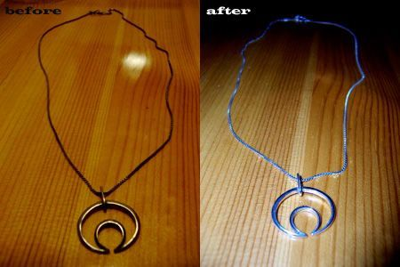 how to clean silver chain without baking soda