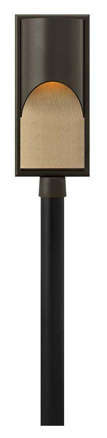 Hinkley 1831BZ Cascade 22 Inch Tall Contemporary Bronze Finish Outdoor Post Light - HIN-1831BZ