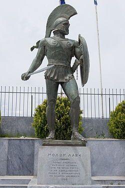 Leonidas roi de Sparte de -489 à-480,célèbre pour son opposition face aux Perses (Xerxes) à la bataille des Thermopyles,durant laquelle il perd la vie