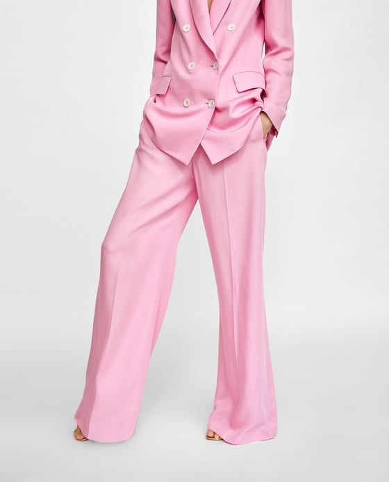 5ed49eb2 Image 2 of COLOURED WIDE-LEG TROUSERS from Zara | WISHLISTED | Wide ...