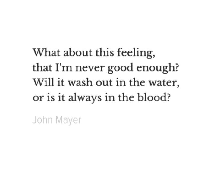 John Mayer - always in the blood