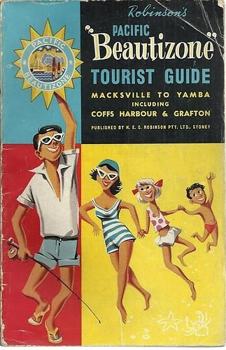 Wow love this vintage poster of north coast holiday guide.