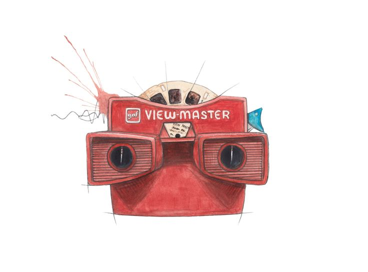 """Viewmaster""   Copyright: Emmeselle.no  Illustration by Mona Stenseth Larsen"