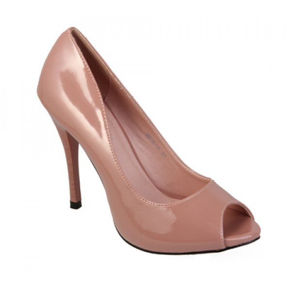 Solid Color Women's Pumps With Peep Toes Design #carnival breeze, #carnival cruise, #cheap cruise, #cruise deals, #cruise sale, #cruise ships