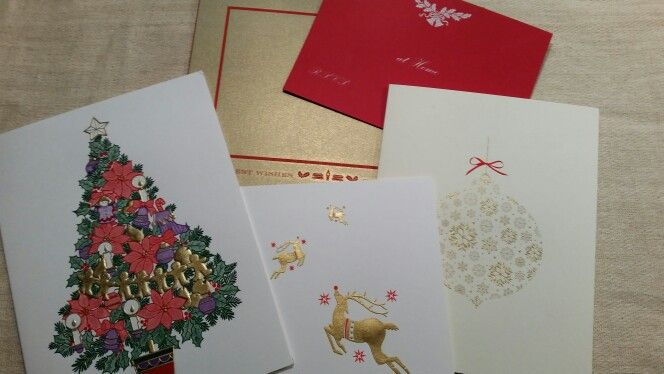 Beautiful designed & engraved christmas cards