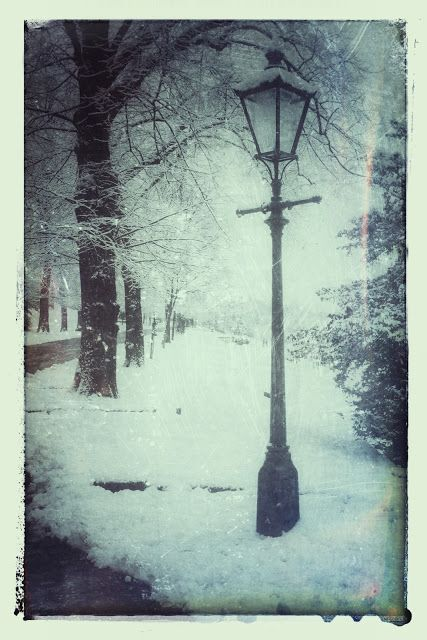 Vintage Copywriting Blog: Vintage Gallery #16 The Victorian Park in the Snow. Photographs taken in the 21st century, edited with SnapSeed to match the Victorian park they feature