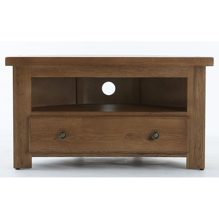 Retro Tv Units Uk Part - 37: Emporium Home Bretagne Rustic Oak Corner Tv Unit. Now Available At  Www.emporiumhomeinteriors.