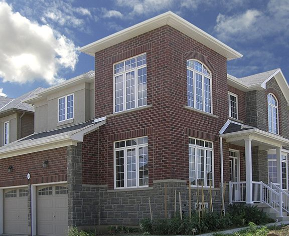 JP Series, Old Chicago with Artiste, Harbour Mist | Clay Brick Residential Application
