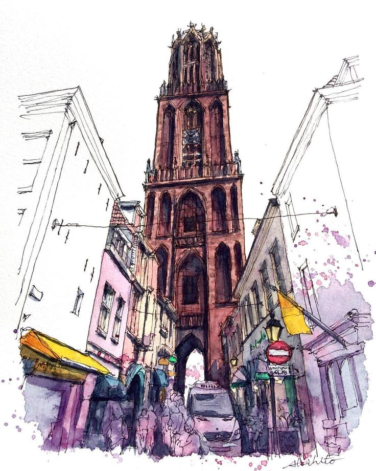 2,818 отметок «Нравится», 58 комментариев — watercolor@horiaki2 (@horiaki2) в Instagram: «オランダ・ユトレヒト・セントマーティン大聖堂 -- St.Martin's Cathedral , Utrecht , Netherlands ➡️Please visit my…»