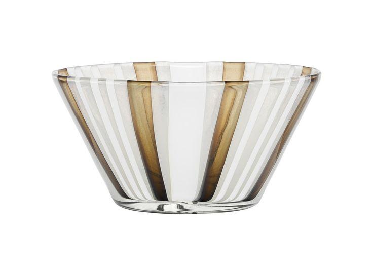 Cabana bowl pearl/brown, design by Ludvig Löfgren for Kosta Boda