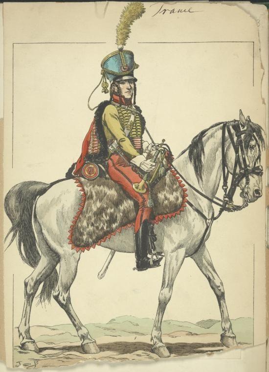 9 Hussards 1805 Trompette NAPOLEONIC TROOPS Hussards France Pinterest