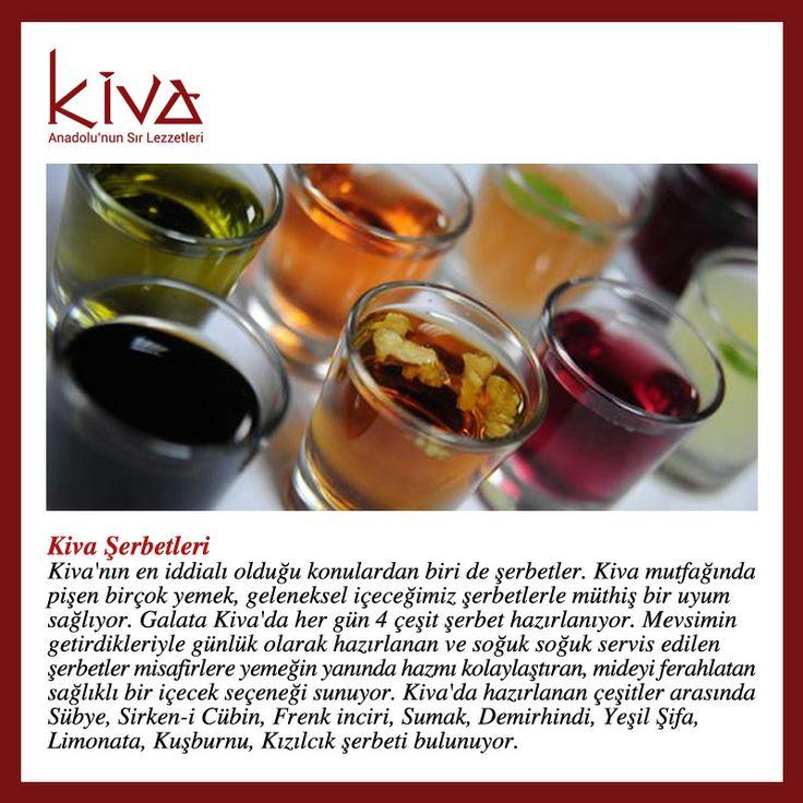 #KivaAnkara'nın birbirinden leziz yemeklerinin yanında, günlük soğuk servis edilen Kiva şerbetlerimizi denemeyi unutmayın!   Bizden söylemesi!  #kivaankara #ankara #turkishrestaurant #turkishcuisine #cuisine #restoran