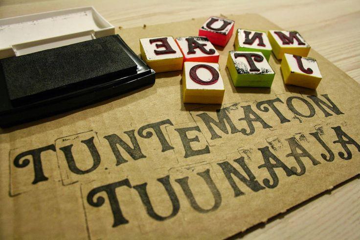 Tuntematon Tuunaaja: DIY kirjainleimasimet // DIY alphabet stamps