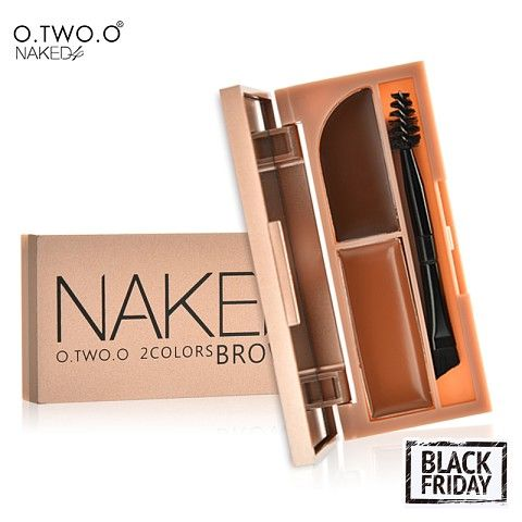 O.TWO.O  Professional Eye Brow Makeup Kit Set Waterproof Eyebrow Powder and Gel 2 in 1 With Brush and Mirror