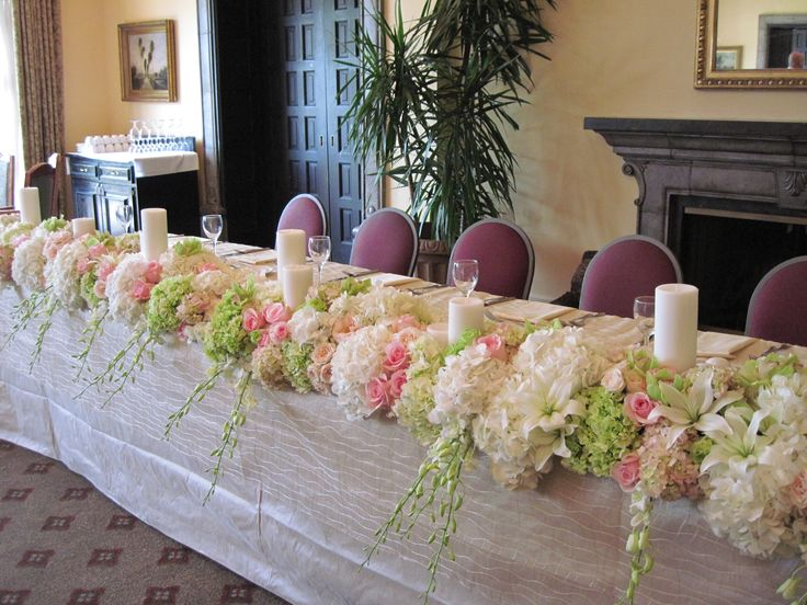 Best images about wedding head table arrangements on
