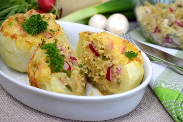 Chudneš? Pre teba je tento recept ako stvorený. Spav si plnený kaleráb s jarnou zeleninou a bulgurom, a budeš chudnúť chutne.