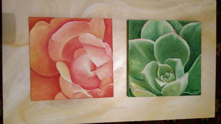 """Flores Oleos 30x 30 """"alegria de vivir 1"""" #artesupa"""