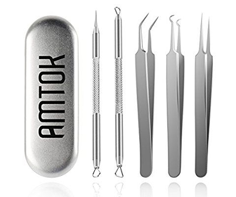 Price:	$18.99 Now Sale:	$14.95 Blackhead Tweezers Kit Pimple Comedone Extractor Tool Set Treatment for Blemish , Zit Popper (Tweezers Kit) #beauty #Personal care