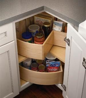 Click to Enlarge — Kitchen and Bath Cabinet Doors and Drawers - Lazy Susan Corner Cabinet.