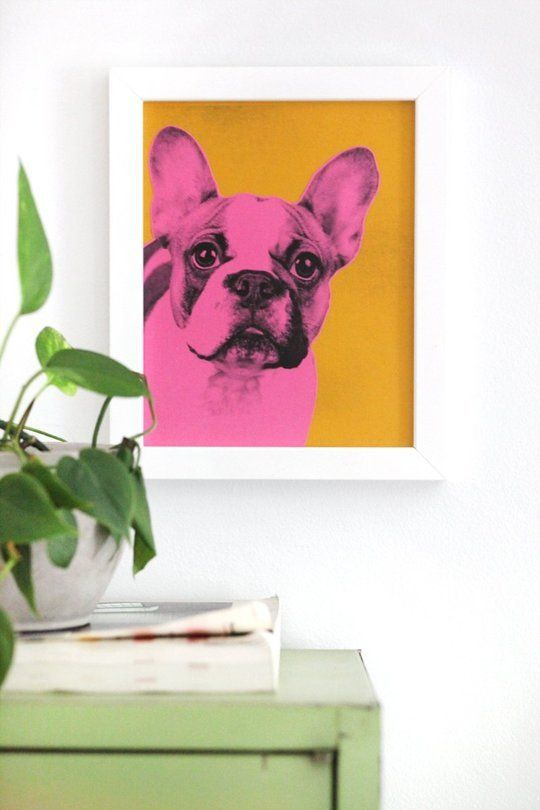 Easy Project Make this Pop Art Pet Portrait — A Beautiful Mess   Apartment Therapy