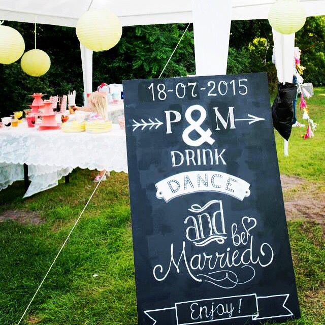 Je eigen gepersonaliseerde bord op jouw bruiloft!