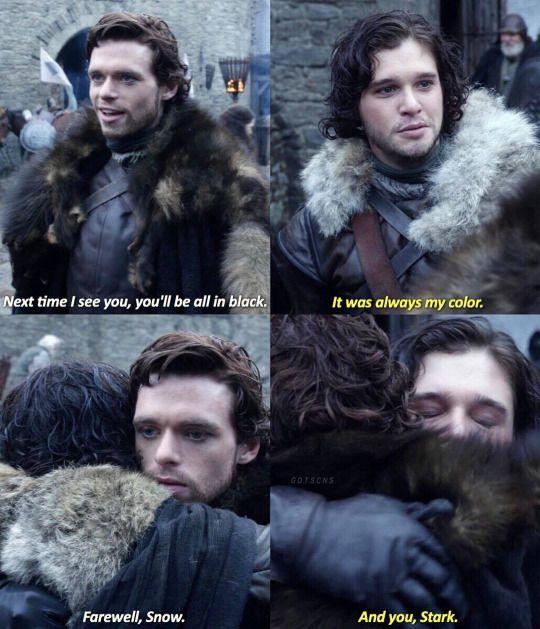 Game of thrones season 1. Jon Snow and Robb Stark. Kit Harington, Richard Madden