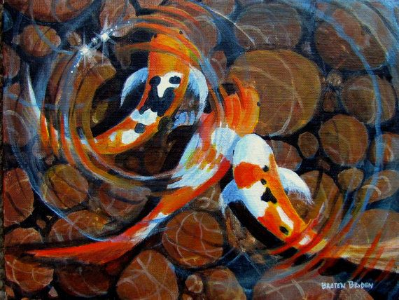 1000 images about koi fish pond glass on pinterest for Japanese koi fish painting