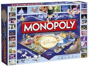 Disney Classics - Monopoly - Maße: 405 x 50 x 265 mm - Alter 8+ - Spieler: 2 - 6 - Deutsche Originalausgabe. Das Spiel Disney Classics - Monopoly vereint alle deine liebsten Figuren aus der Disney-Welt. Zusammen mit Bambi, den kleinen Dalmatinern und deinen Freunden aus dem Dschungelbuch kannst du dich mit dem Spiel in ein gigantisches Rennen stürzen. Schnapp dir deinen Lieblingscharakter und los geht's!