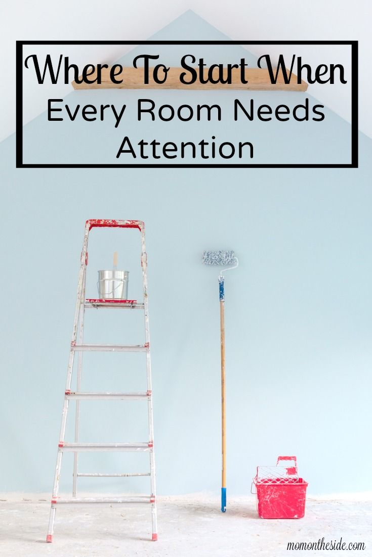 Torn screens, broken outlet covers, trim that needs painted, and the list goes. You reach a point where it all just seems like TOO MUCH. Where do you start when every room needs attention?