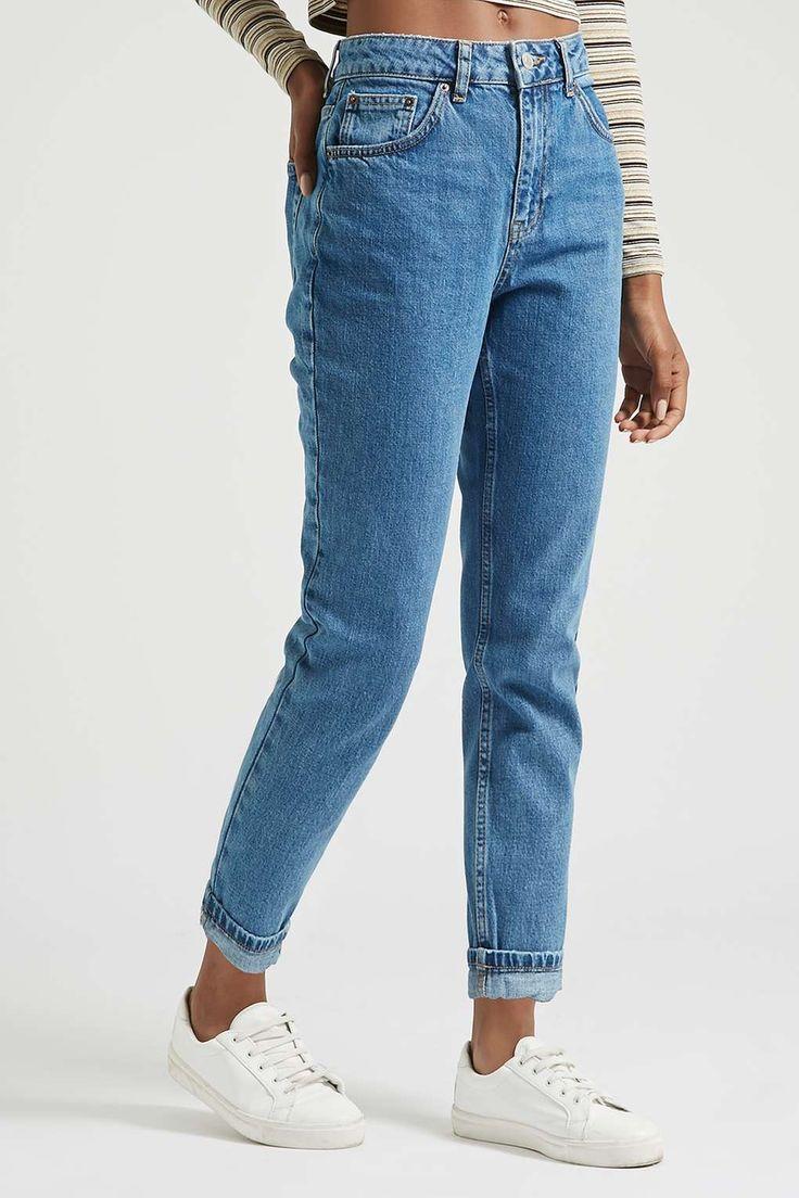 topshop - petite moto vintage mom jeans