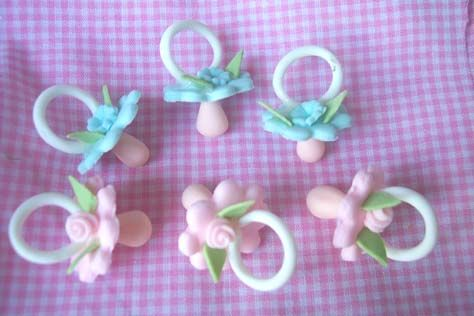 12 Pacifiers- Mini Pink / Blue- Dozen
