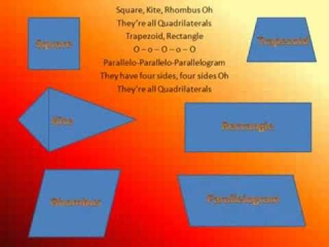 ▶ Even better than The Shapes Song! (4 Sided Shapes - Quadrilaterals) - YouTube
