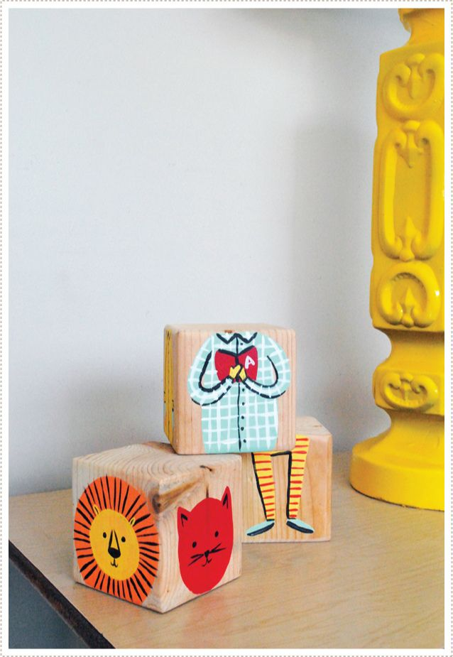How amazing are these diy mix and match blocks - great birthday gift