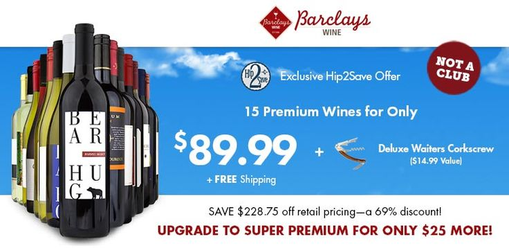 Barclays Wine Special Offer