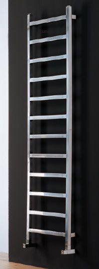 UPPER- Radiateur acier disponible dans les finitions satinée, brillante et tous les coloris RAL- Dimensions L 350, 500 et H 1800, 2100mm- puissances :250, 350 et 400W - à partir de 1150€