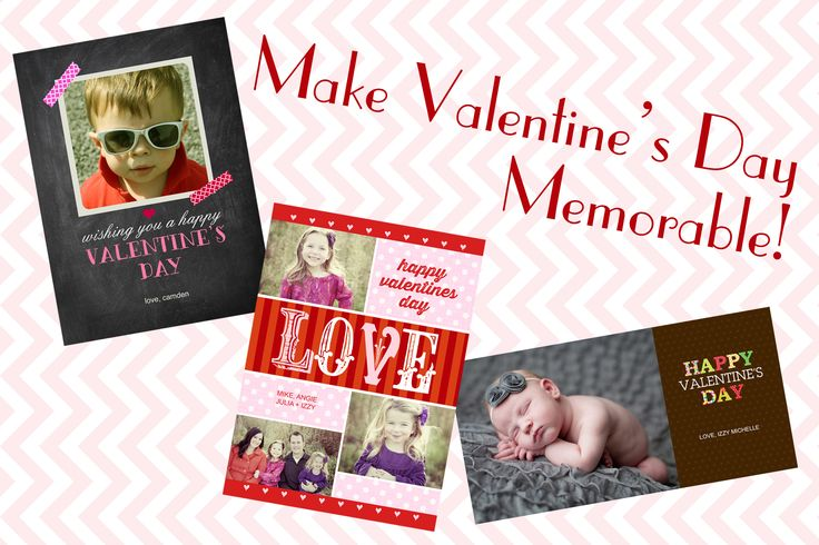 Share the love this Valentine's Day with personalized photo greeting cards and valentines.