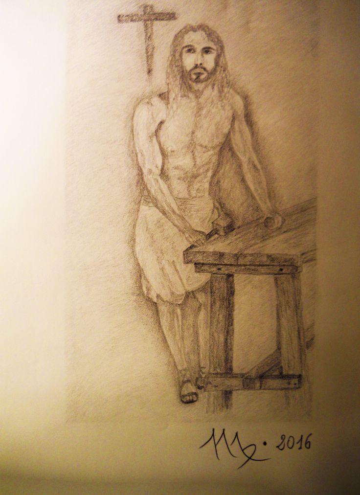 IL FALEGNAME DI NAZARETH   disegno matita 9B su carta Fabriano