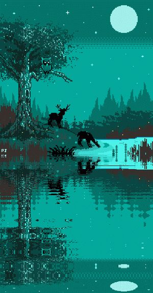 pixeljeff:  Try to combine with the water effect! looks amazing!! right?Moonrise / 2014 - Pixel Jeff