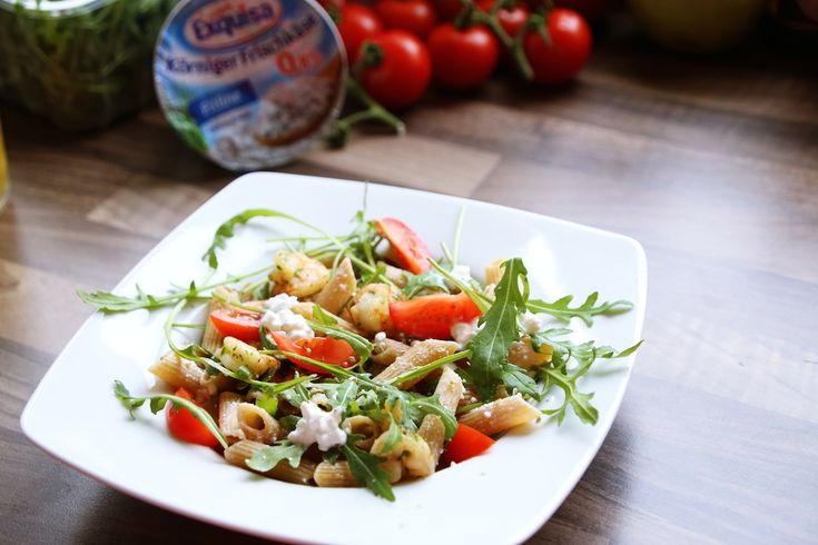 Nudeln mit Körnigen Frischkäse von Exquuisa | Fit Trio Food & Fitness Blog aus Hamburg