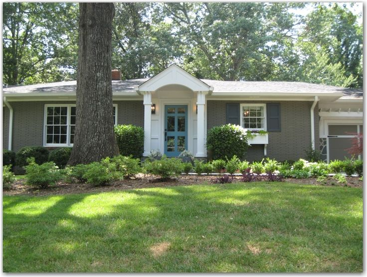 Beautiful Exterior Facelift Of A Mid Century Brick Ranch Style Home Amazing What Painting A