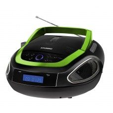 #HYUNDAI #MUSIKANLAGE #CD #MP3 #PLAYER / #RADIO - #USB #Boombox (#Schwarz / #Grün)