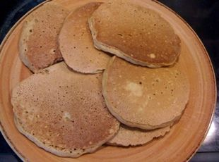 Steel Cut Oats Pancakes Recipe ~ Just made these tonight. Super yummy!