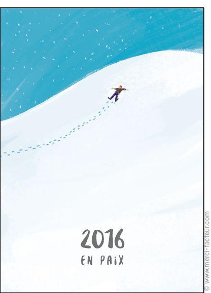 Carte La nouvelle année en paix pour envoyer par La Poste, sur Merci-Facteur !