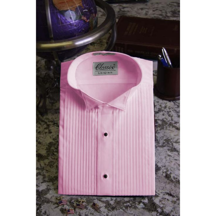 Tuxedo Fushia Shirt With Wing Tip Collar | 4 J'rrrbbbittt ...