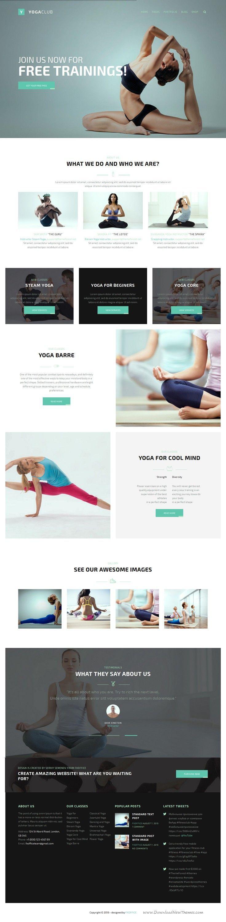 Fightclub premium crossfit mma bodybuilding fitness yoga html template