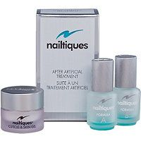Removed artificial nails and your nails are soft and brittle try Nailtiques - After Artificial Treatment Set, it will recover and strengthen your nails. Available at www.theechshop.com