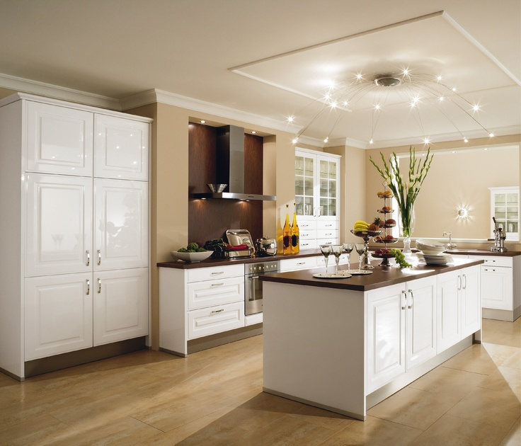 Cuisine polaris blanc brillant 7890 lectro inclus - Cuisine couleur sable fin ...