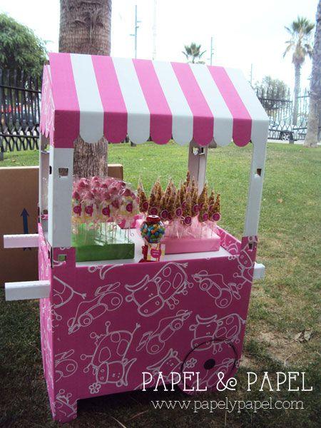 carrito de chuches para los niños y los no tan niños invitados a tu Boda: rosa, azul o blanco